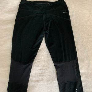 Nike cropped running pants with back zipper
